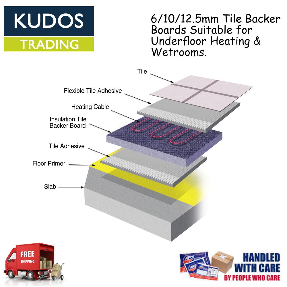 Tile Backer Board 6mm 10mm 12 5mm Underfloor Heating